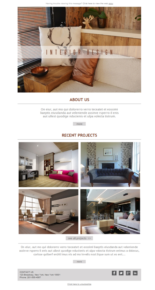 Kostenlose NewsletterVorlagen Laden Sie Interior Design Co Awesome Interior Design Newsletter
