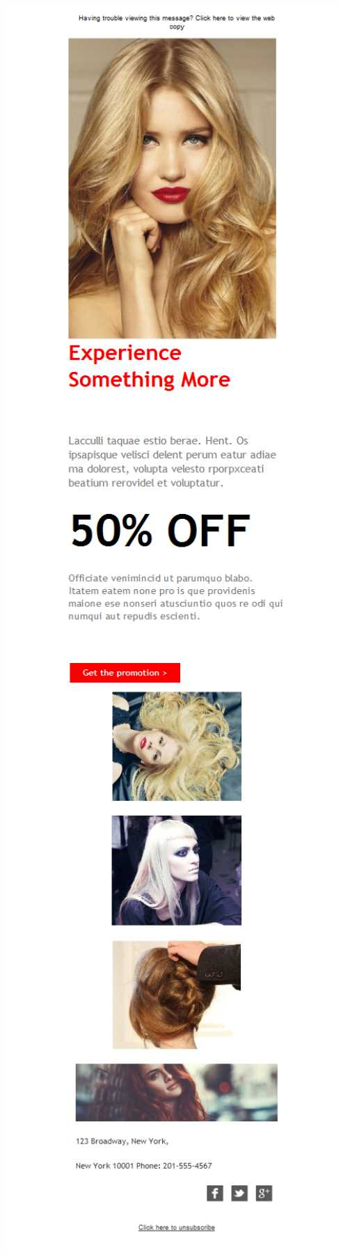 Templates Emailing Hair Salon Experience Sarbacane