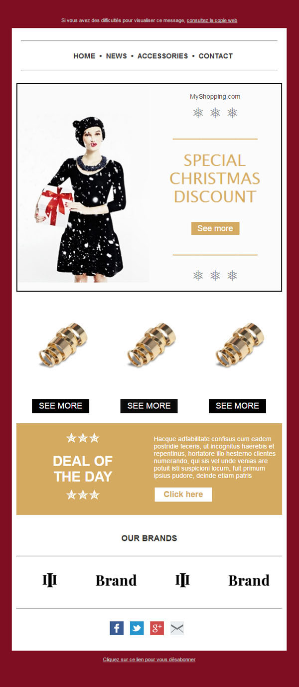 Templates Emailing Christmas Deal Sarbacane