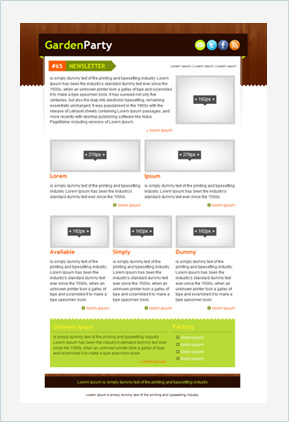 Templates Emailing Garden Party Sarbacane
