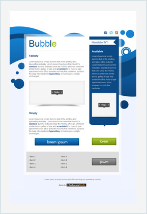 Templates Emailing Bubble Sarbacane