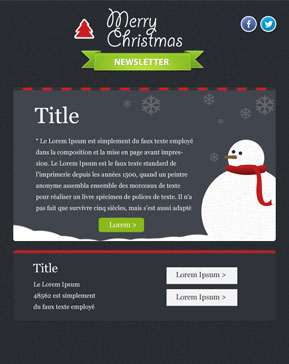 Templates Emailing Snowman Sarbacane