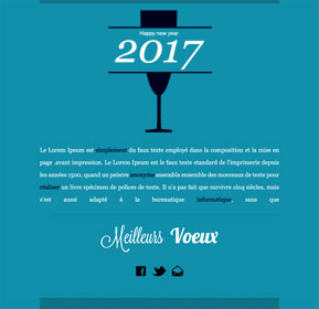Templates Emailing Blue Champagne Sarbacane
